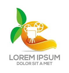 Fruit leaf combination movie video cinema vector