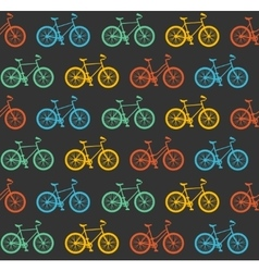 Bicycle seamless pattern vector