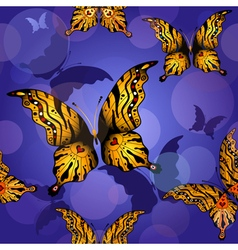 0 blue seamless butterfly vector