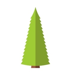 Fir-tree flat symbol vector