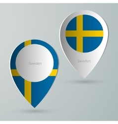 Paper of map marker for maps sweden vector