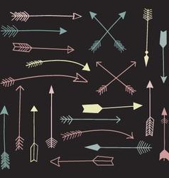 Chalkboard Hand Draw Arrow vector image