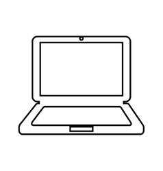 Computer laptop isolated icon design vector