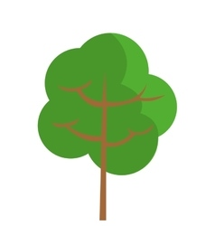 Single tree with round foliage icon vector