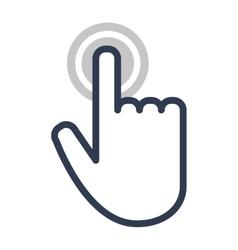 Hand touch cursor digital icon vector