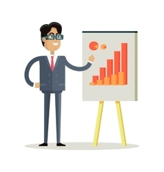 Business man making a presentation vector