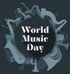 abstract dark colored international music day vector image vector image