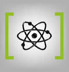 atom sign black scribble vector image vector image