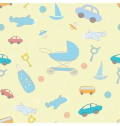 Baby boy layette funny pattern vector image