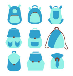 backpack rucksack set vector image vector image