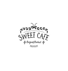 badge set for small businesses - sweet bakery the vector image vector image