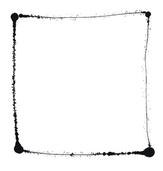 Black grunge frame isolated on the white vector image vector image