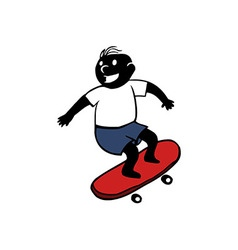 Boy Playing Skateboard vector image vector image