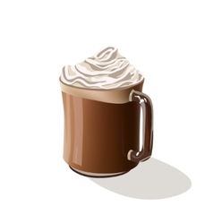Coffee drink Mocha vector image