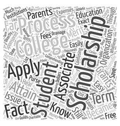 College easy scholarship word cloud concept vector
