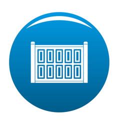 Concrete fence icon blue vector