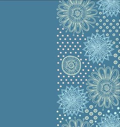 Cute flower background vector