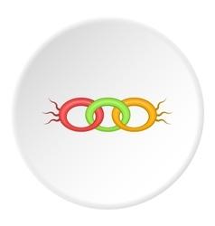 DNA strand icon cartoon style vector image