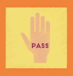 flat shading style icon hand pass vector image
