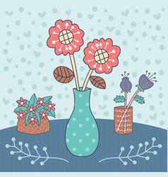 flower vase editable vector image