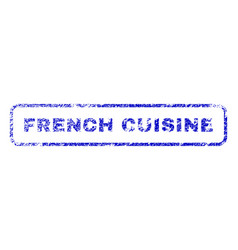French cuisine rubber stamp vector
