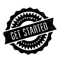 Get started stamp vector
