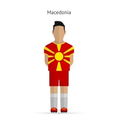 Macedonia football player soccer uniform vector