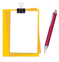 office stationary vector image vector image