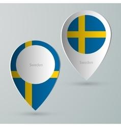 Paper of map marker for maps sweden vector