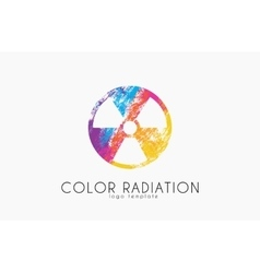 Radiation logo color radiation design creative vector