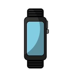 Smartwatch gadget isolated icon vector