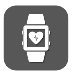 The smart watch icon Fitness bracelet symbol vector image