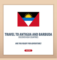 Travel to antigua and barbuda discover and vector