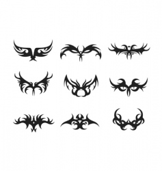 tribal elements vector image vector image