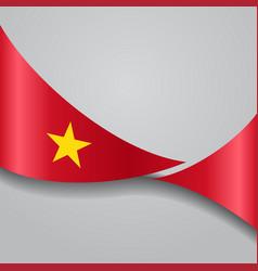 Vietnamese wavy flag vector
