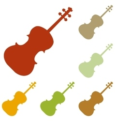 Violine sign vector image vector image