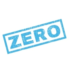 Zero rubber stamp vector