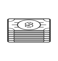Bills money financial item economy icon vector