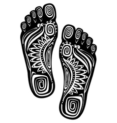 Decorative feet vector