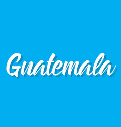 Guatemala text design calligraphy vector