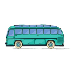 Vintage bus cartoon vector