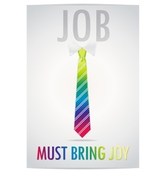 Poster of job must bring joy vector