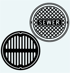 Sewer manhole vector