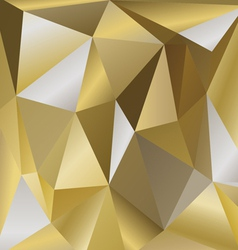 Polygonal background bronze vector