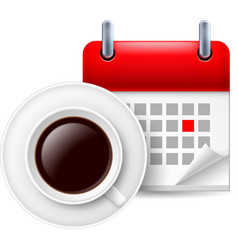 Cup of coffee ad calendar vector