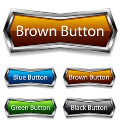 Shiny chrome web buttons vector