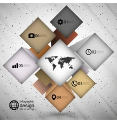 Infographic cube box for business concepts modern vector