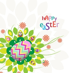 Easter eggs flower background colorful vector