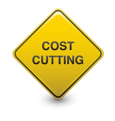 Road sign - cost cutting vector