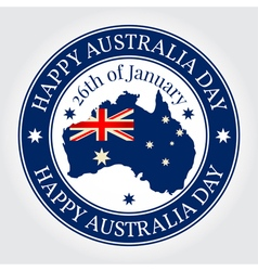 Greeting card rubber stamp happy australia day nat vector